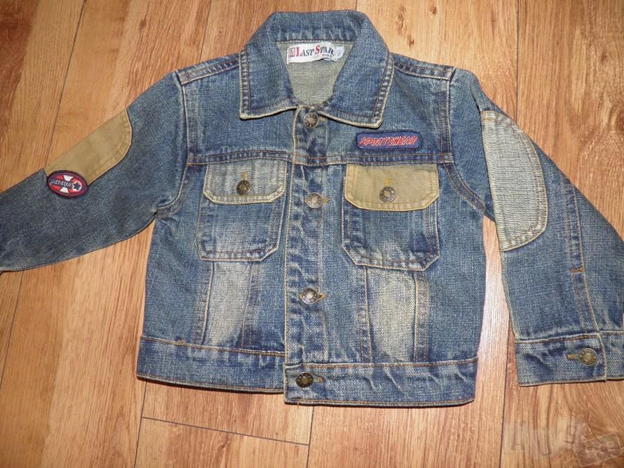 Джинсовый пиджак на мальчика.