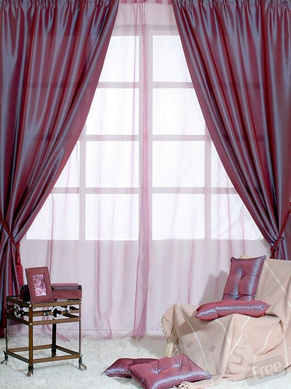 Новые шторы цвета бордо