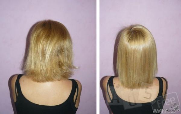 Кератиновое выпрямление,лечение волос