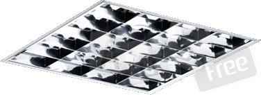 Светильникра растровый 4X18 ARS/R 595 HF З