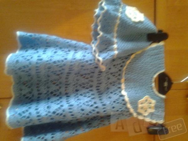 Новое вязаное платье с панамкой