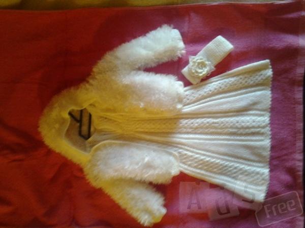 Платье,кофта с капюшоном и повязка