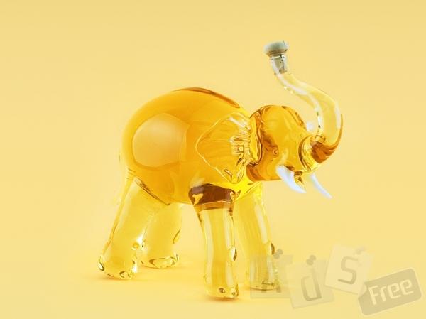 VIP подарок- Слон(стекло)