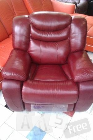 Кожаное кресло-реклайнер К-137.
