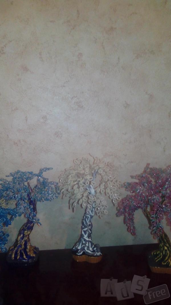 изготовлю Декоративные деревья из бисера