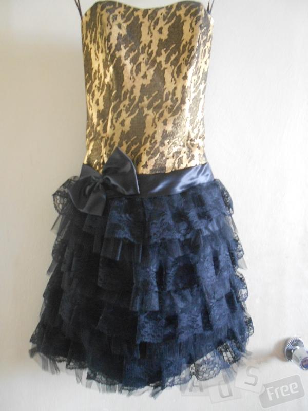 Чорно-золотисте плаття