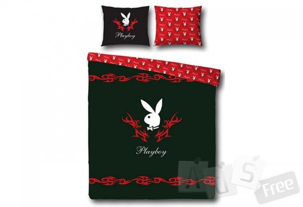 Постельное белье Playboy Черное Шелк