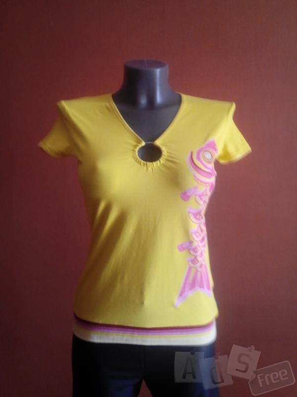 яркая лимонная футболка DEPT,р-ра М