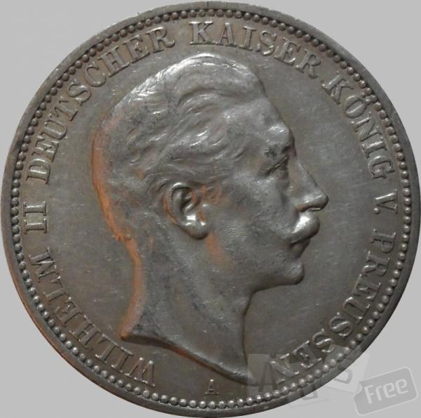 3 марки, Пруссия 1911год
