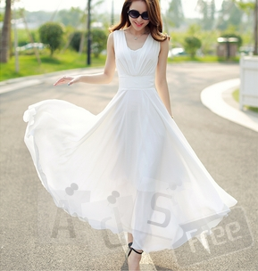 Летнее макси платье