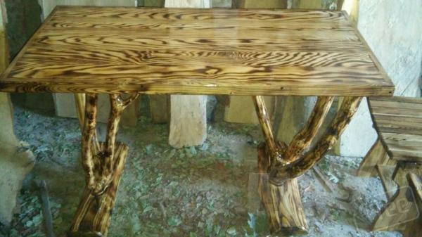 Изготовим садово-парковую мебель из дерева.