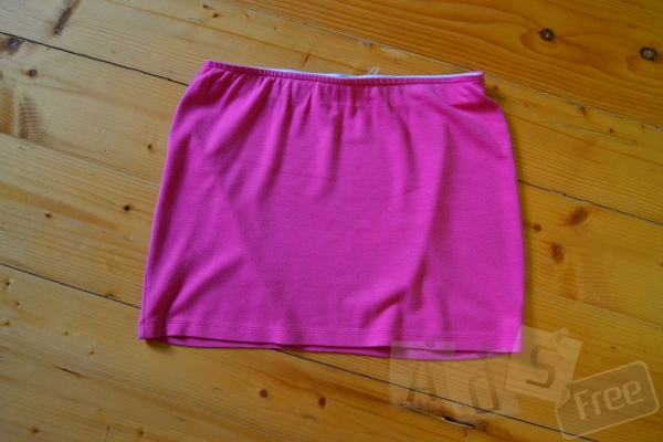 Легкая летняя юбка розового цвета