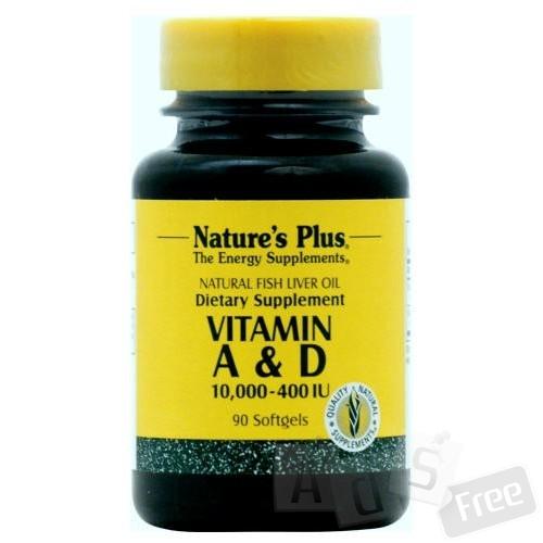 Vitamin A & D  90 капсул Оригинал США