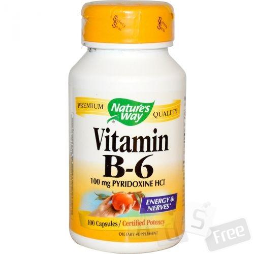 Витамин B6, 100 капсул