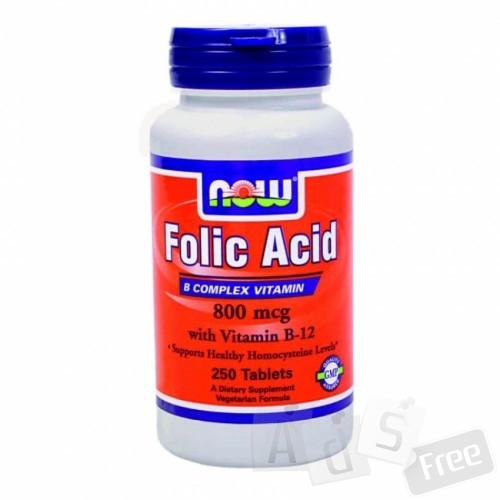 Фолиевая кислота B9 + Витамин B12, 250