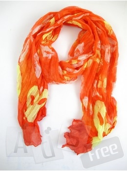 Яркий шарф