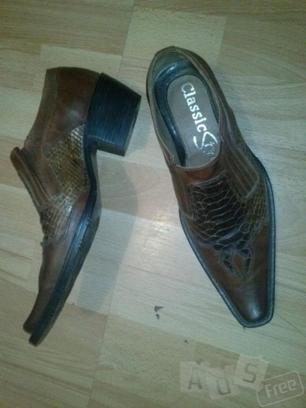 Продам ковбойские туфли полностью кожаны