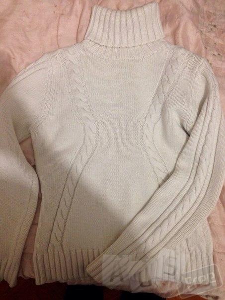 Тёплый приятный качественный белый свите