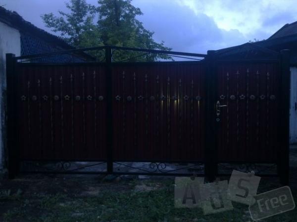 Ворота кованые распашные Луцк
