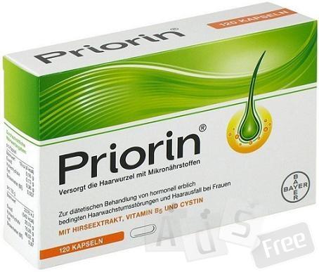 Приорин - витамины от выпадения волос 120 капсул