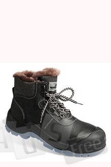 Ботинки женские кожаные меховые
