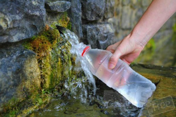минеральная живая вода из источника