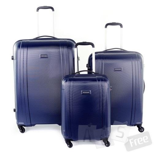 Комплект из 3-х пластиковых чемоданов pu