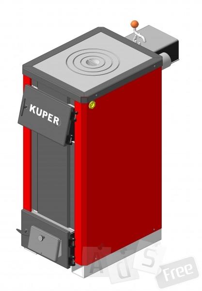 KUPER18П котел с плитой из чугуна