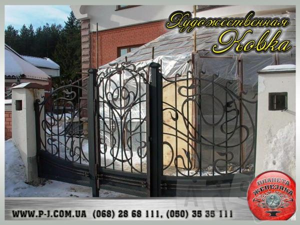 Ворота кованые, сварные, решетчатые