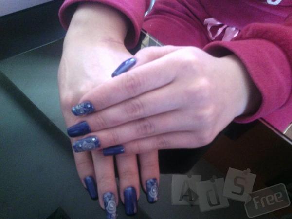 Маникюр+гель лак,наращивание ногтей геле