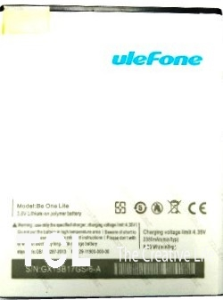 Ulefone Lite 2350mAh Li-polymer