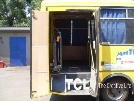 Переобладнання автобусів для інвалідів
