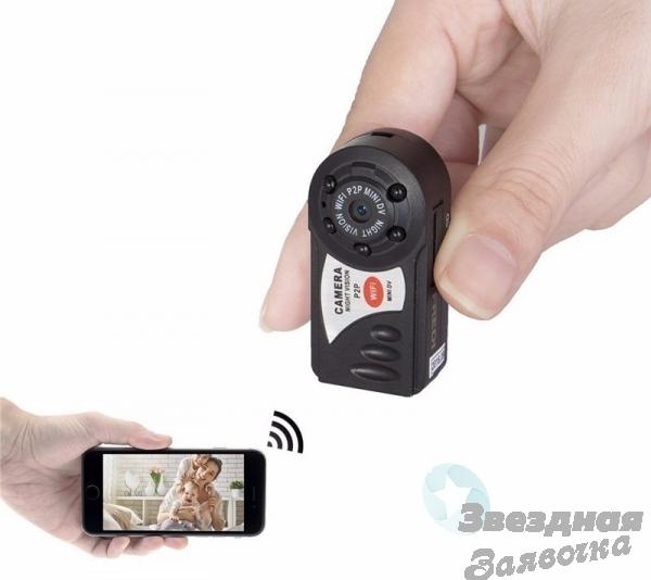 Wi-Fi Мини видеокамера ночного видения