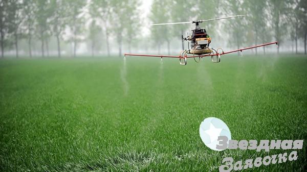 Агрохімічні послуги дронами вертольотами