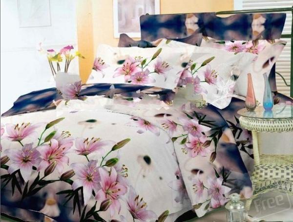 Постельное 3Д Весенние цветы