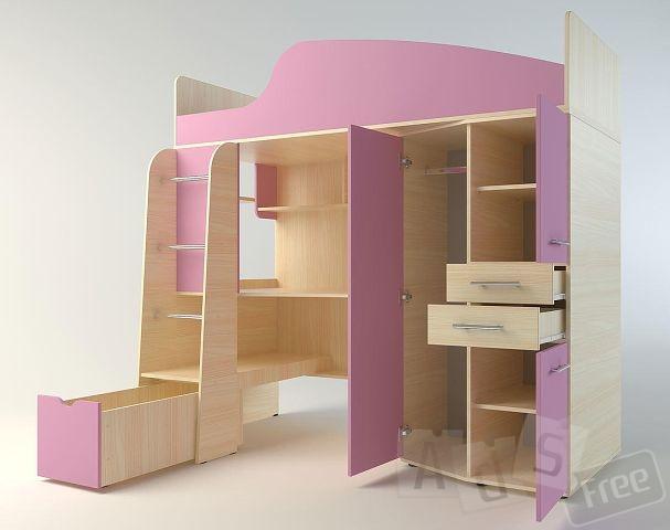 Шкаф+кровать+полки