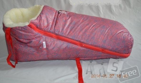 Меховой матрасик в санки и коляски