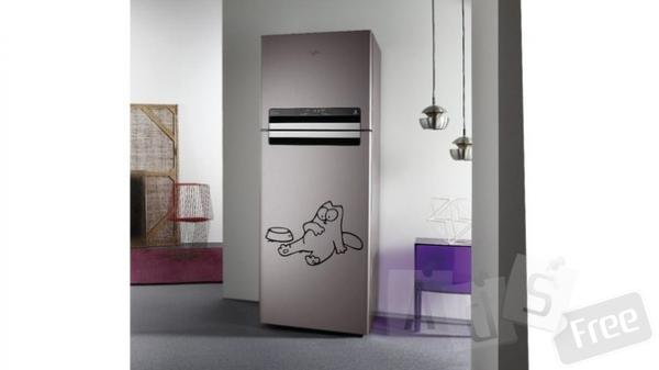 Изготовление виниловых наклеек на холодильник