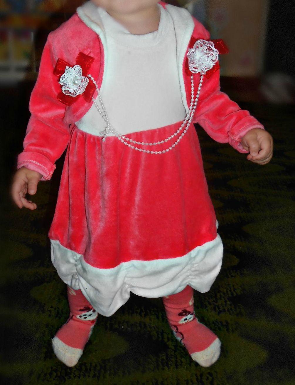 Платье с балером велюр