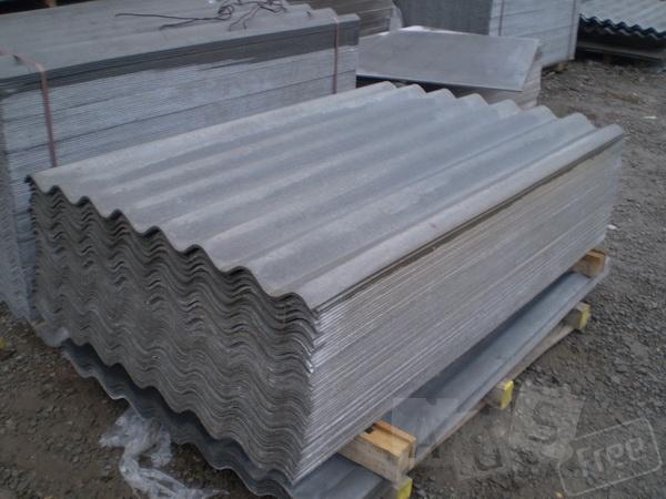 Шифер (8волн) серый 1,13м*1,75м *5,8мм,