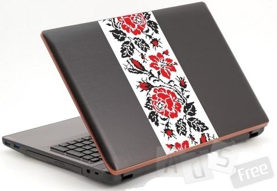 Патриотическая наклейка на ноутбук