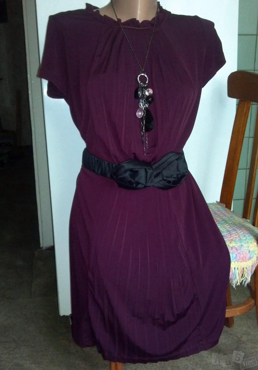 Платье MaxMara вишневое с поясом