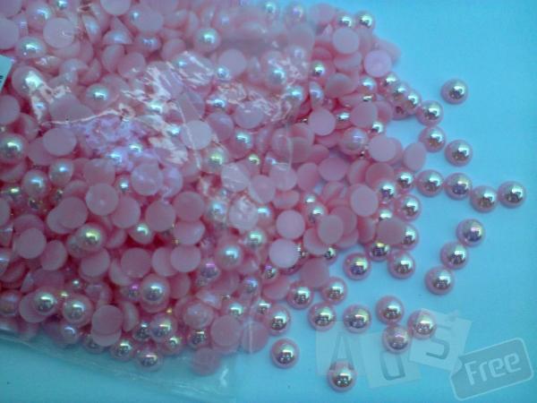 Полубусины розовые 8 мм