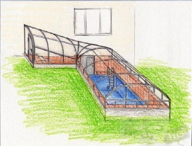 Ремонт и замена накрытий павильонов и навесов для бассейнов