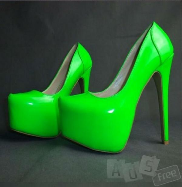 Туфли кислотного цвета