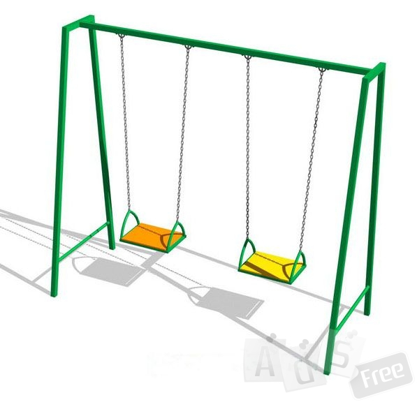 Качели на цепях, двойные
