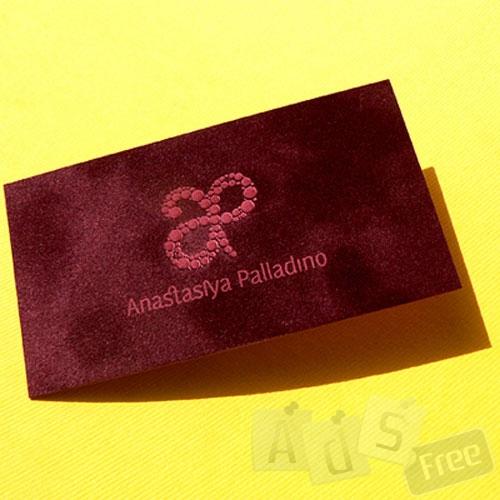VIP визитки, друк на бархате