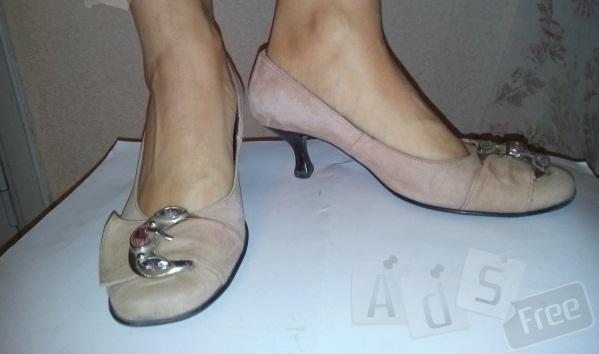 Туфли кожаные замш