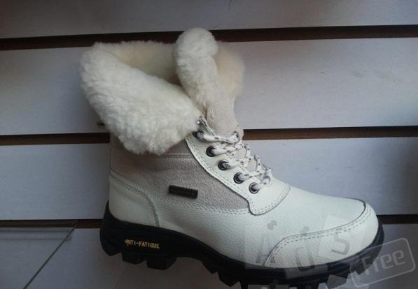 Зимние ботинки, кожа