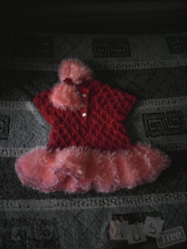 Платя вязаное для девочки от1 года до 2 лет